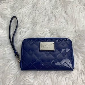 Marc by Marc Jacobs Navy Shimmer Wristlet